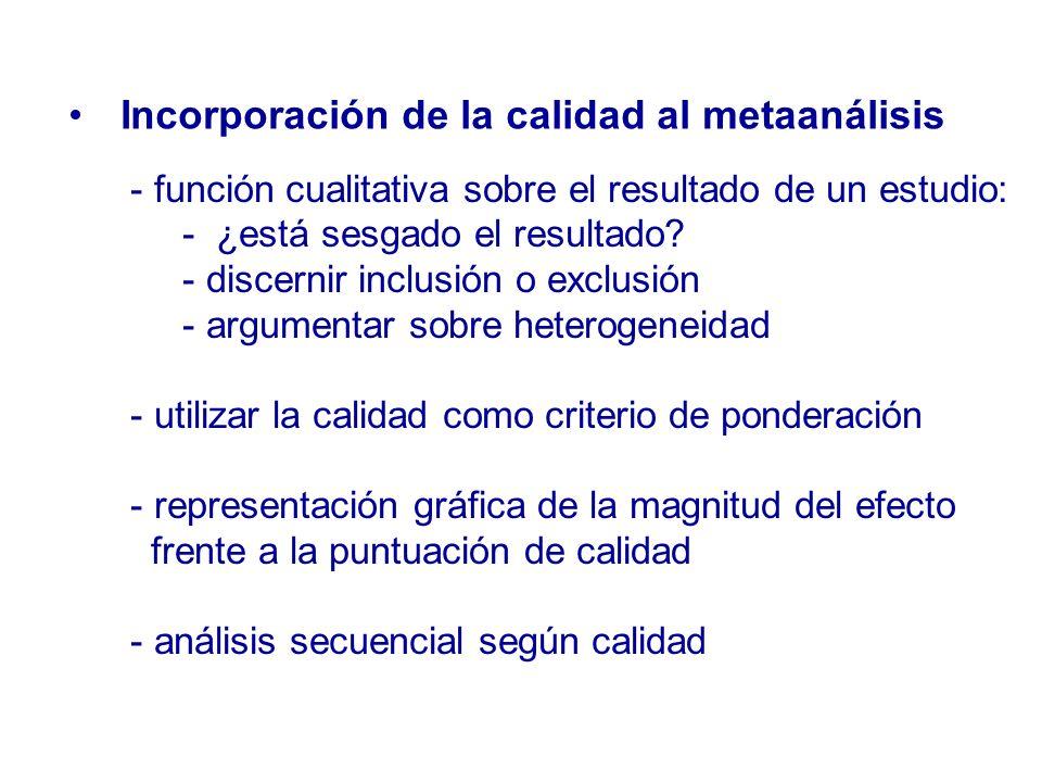 Incorporación de la calidad al metaanálisis