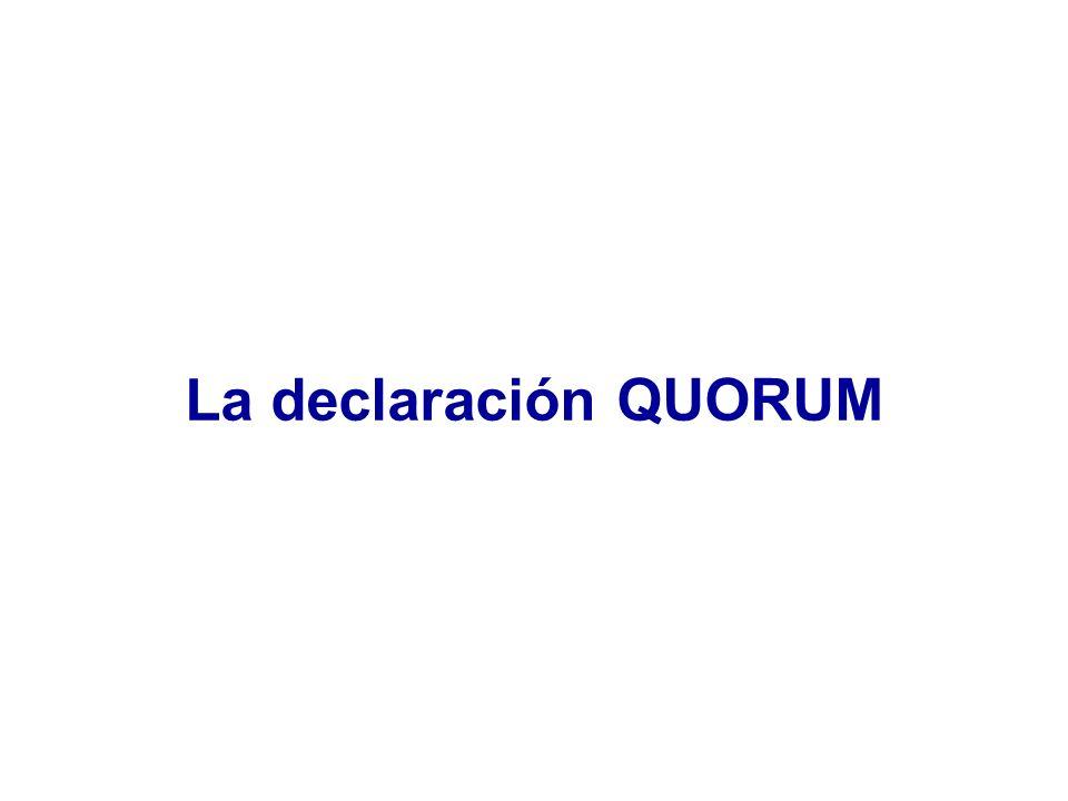 La declaración QUORUM