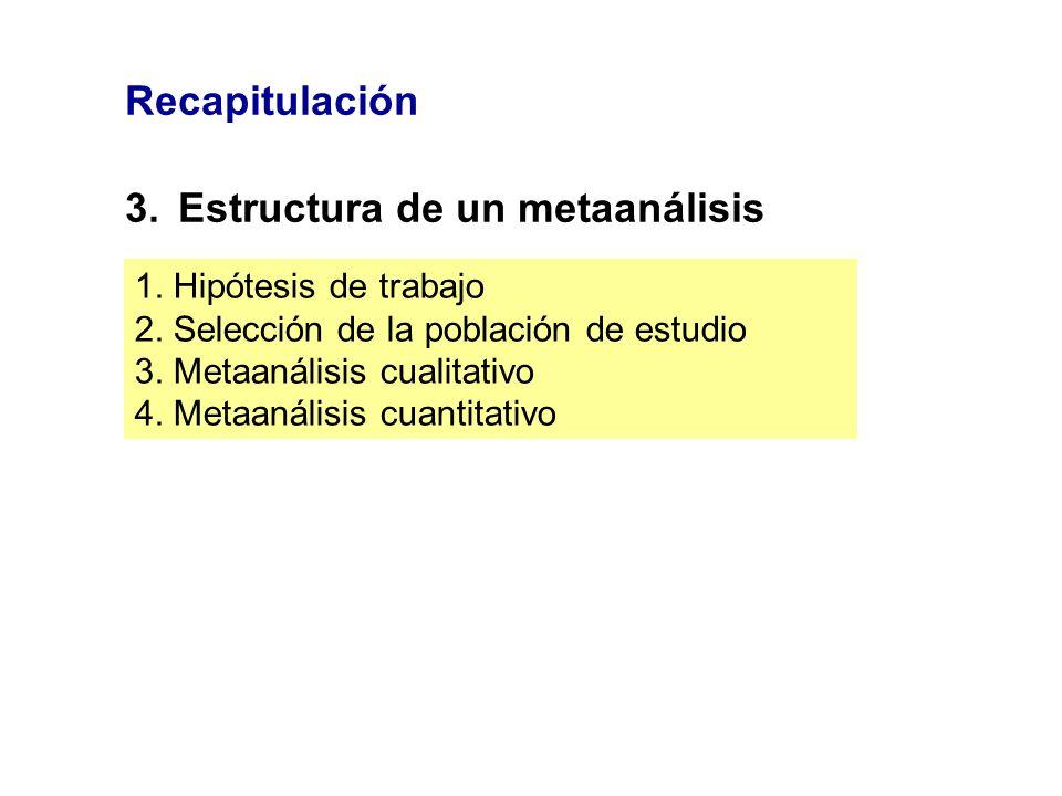 3. Estructura de un metaanálisis