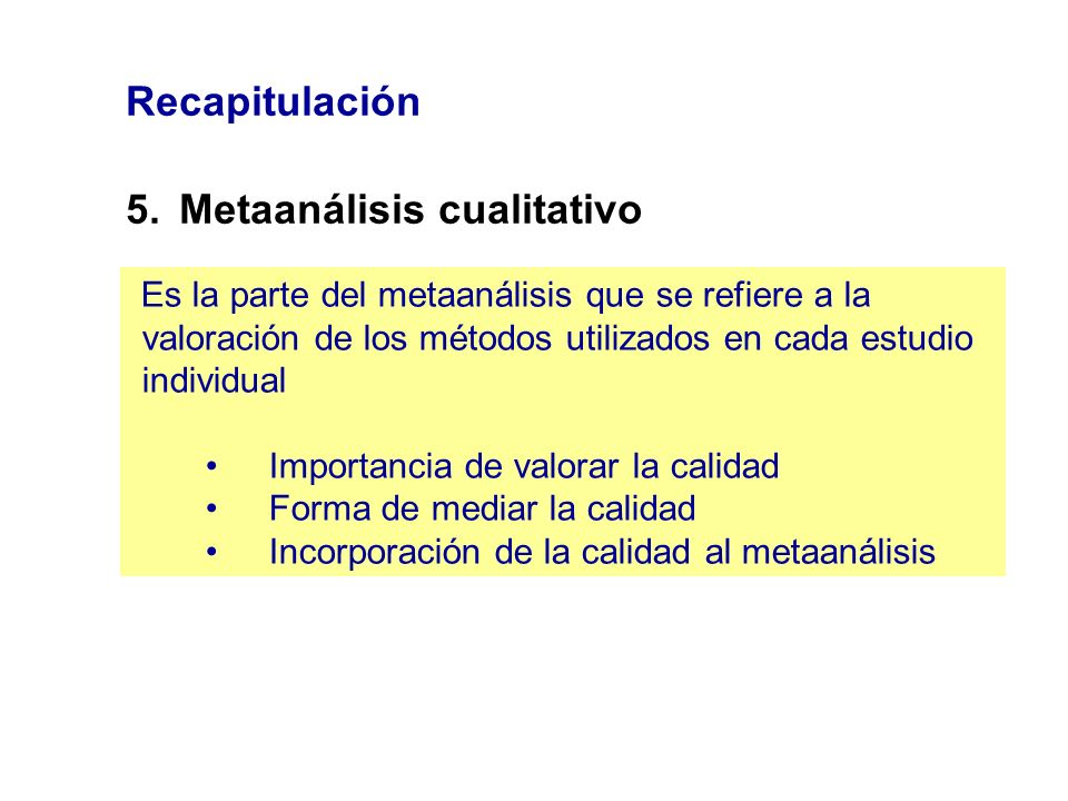 5. Metaanálisis cualitativo