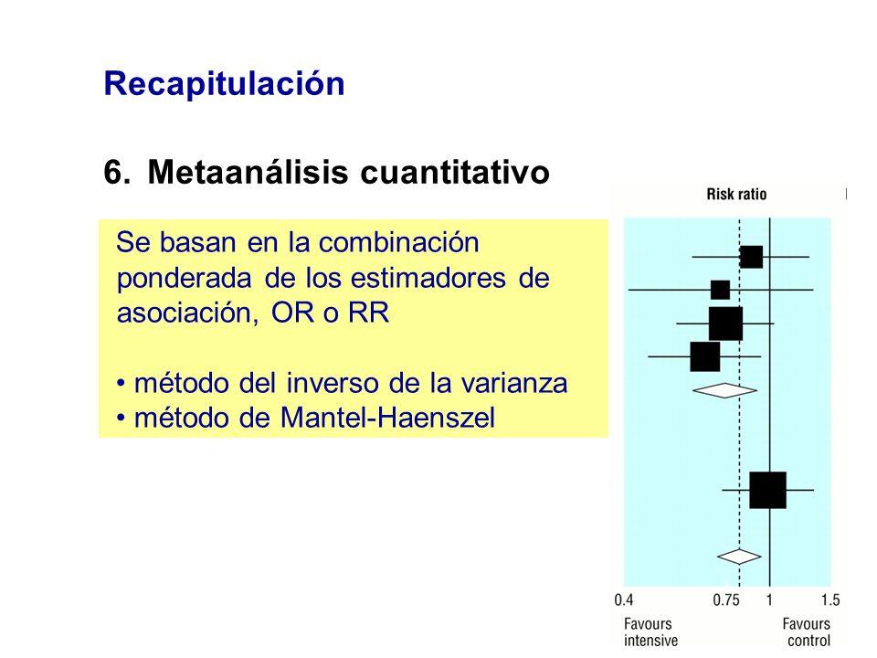 6. Metaanálisis cuantitativo