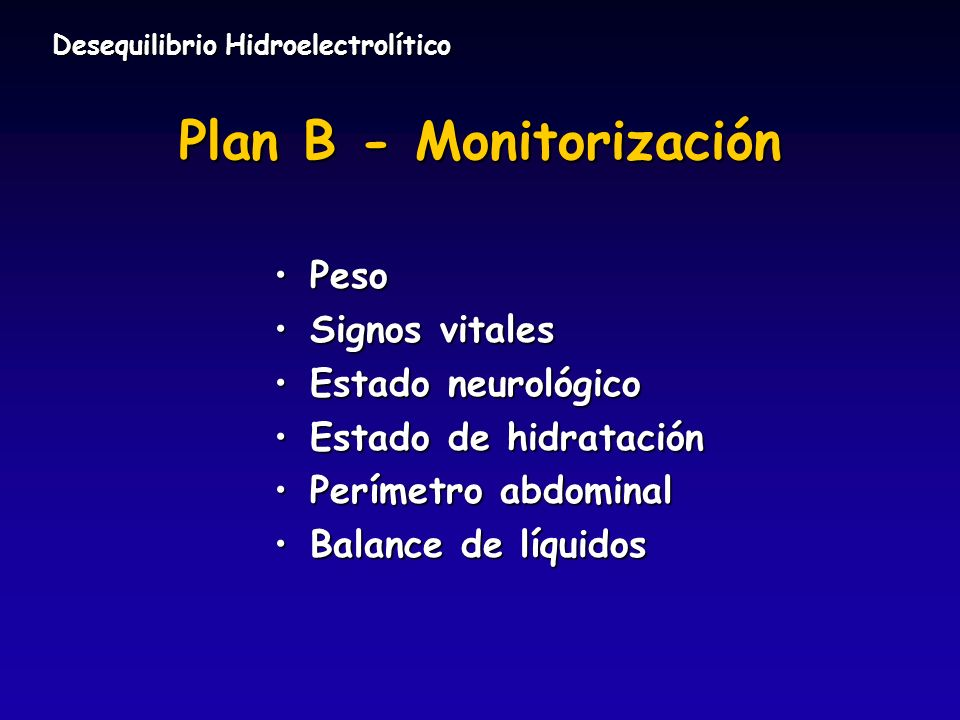 Plan B - Monitorización