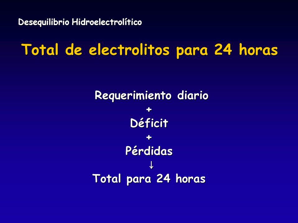 Total de electrolitos para 24 horas