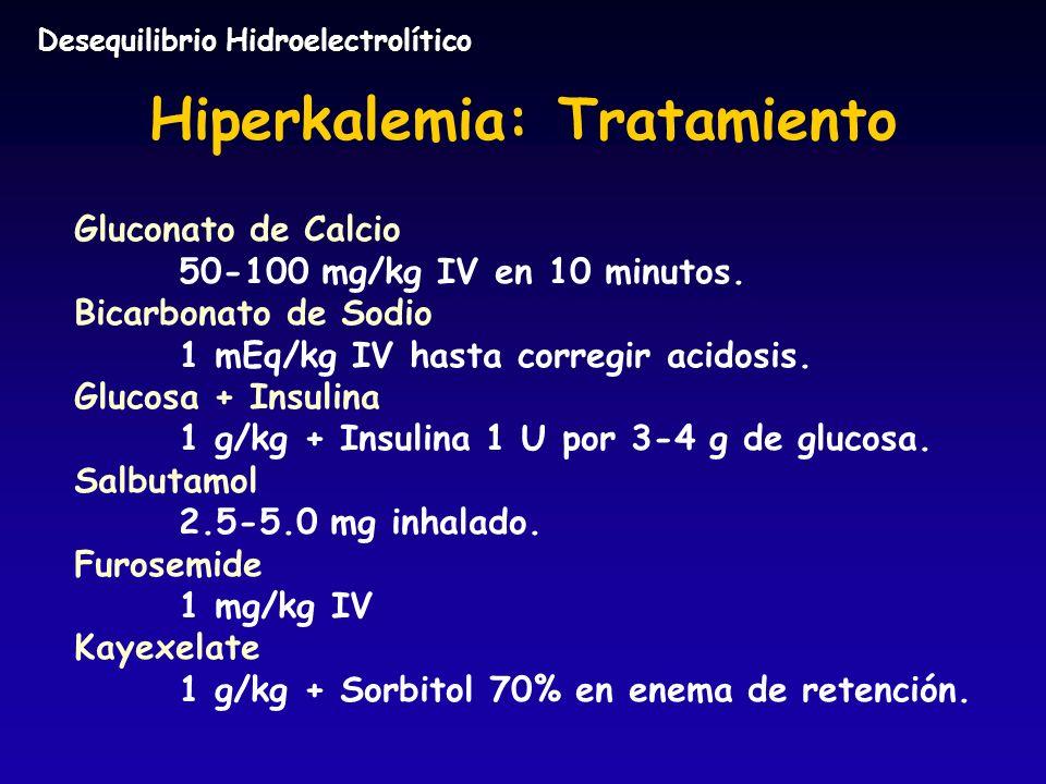 Hiperkalemia: Tratamiento