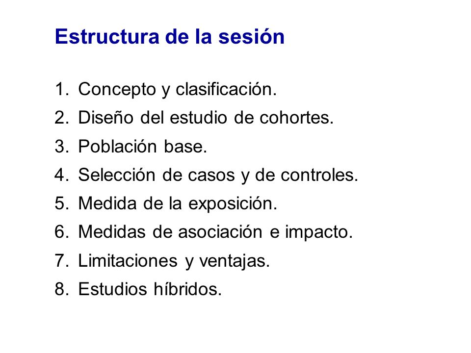 Estructura de la sesión
