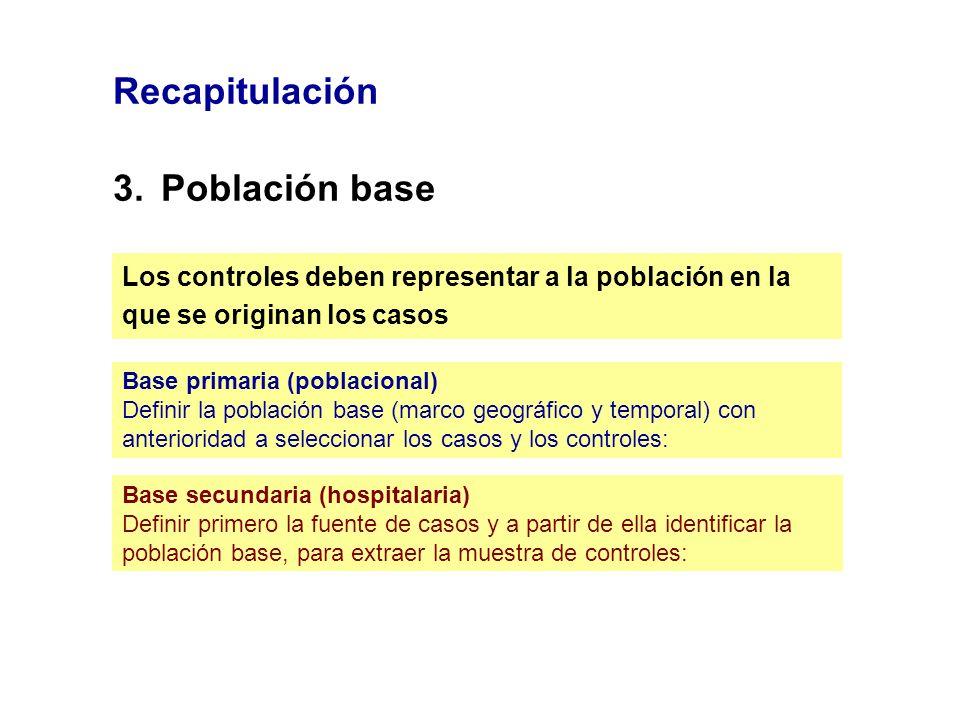 Recapitulación 3. Población base