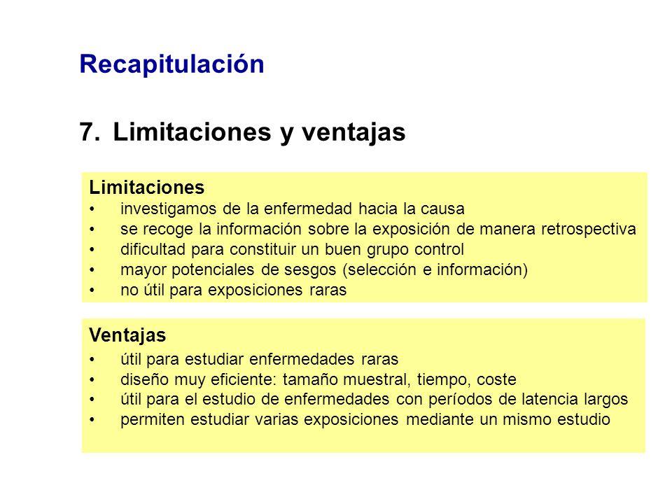 7. Limitaciones y ventajas