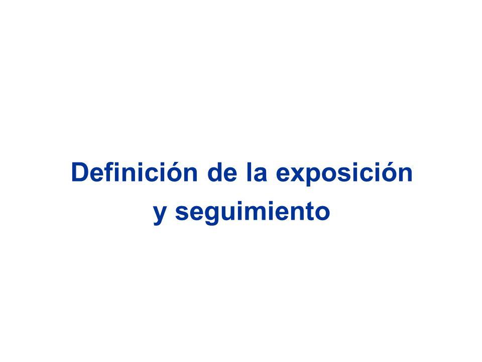 Definición de la exposición y seguimiento