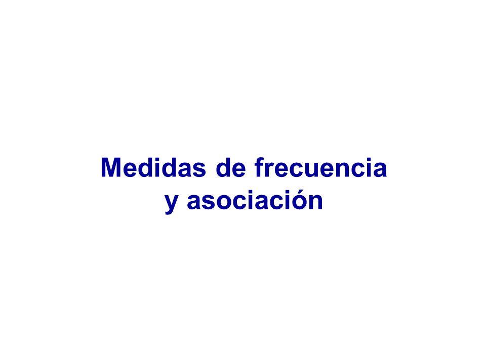 Medidas de frecuencia y asociación