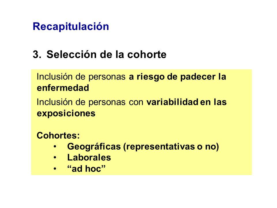 3. Selección de la cohorte