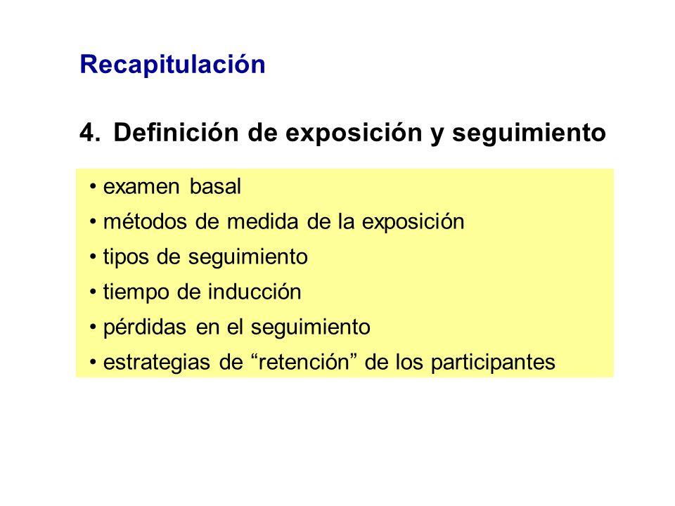 4. Definición de exposición y seguimiento