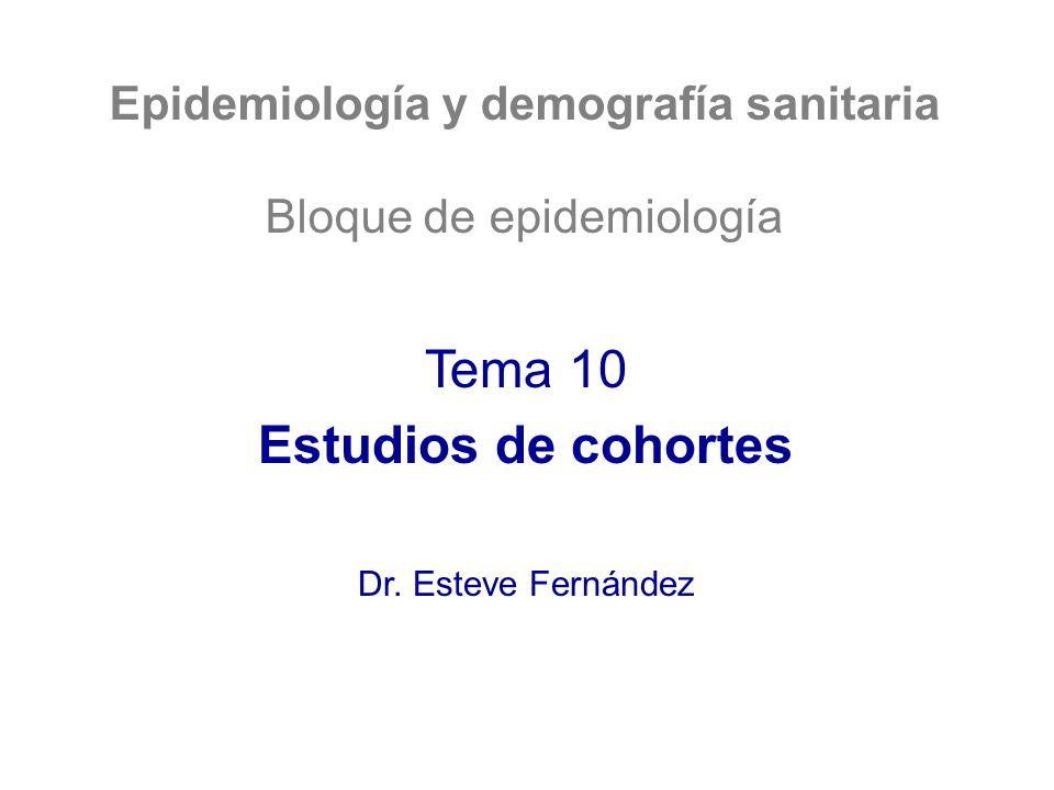 Epidemiología y demografía sanitaria
