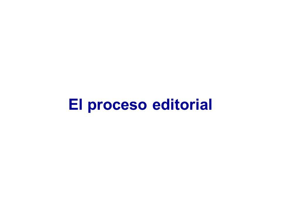 El proceso editorial