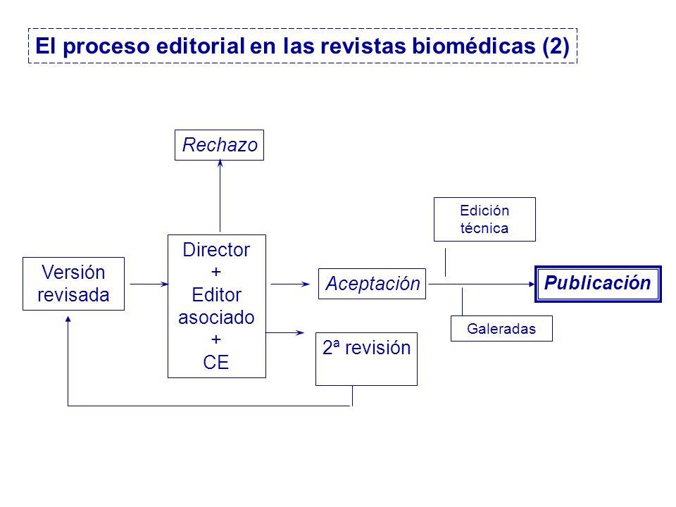 El proceso editorial en las revistas biomédicas (2)