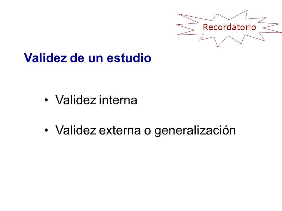 Validez externa o generalización
