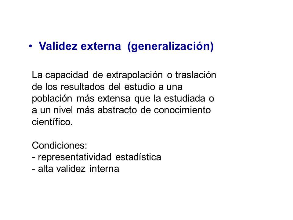 Validez externa (generalización)