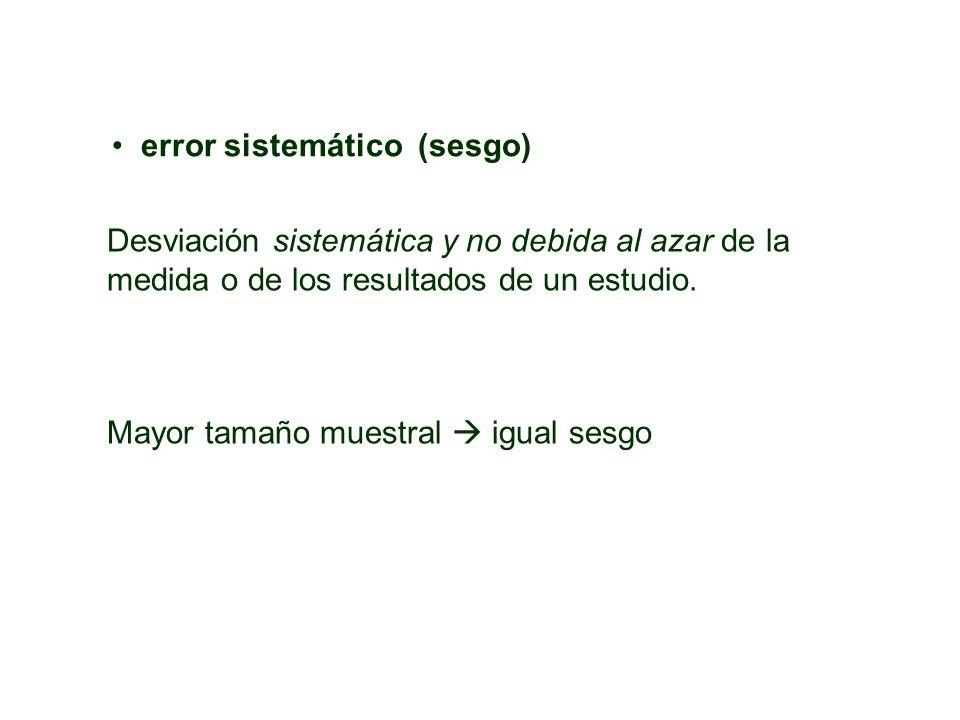 error sistemático (sesgo)