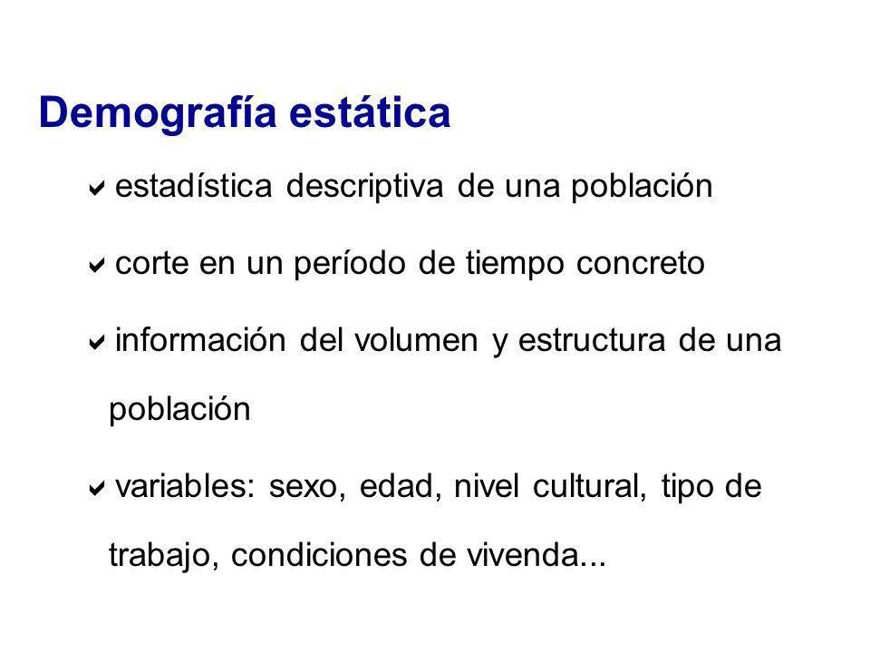 Demografía estática estadística descriptiva de una población
