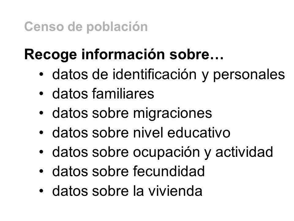 Recoge información sobre… datos de identificación y personales
