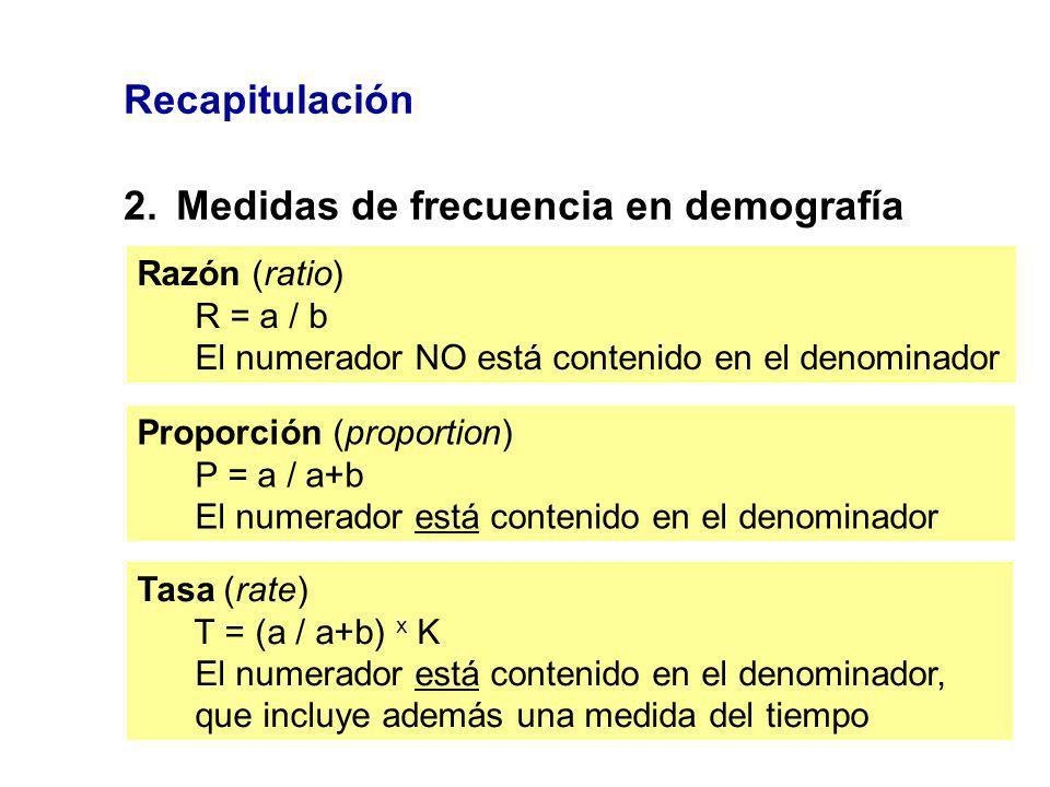 2. Medidas de frecuencia en demografía