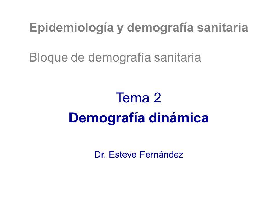 Tema 2 Demografía dinámica Epidemiología y demografía sanitaria