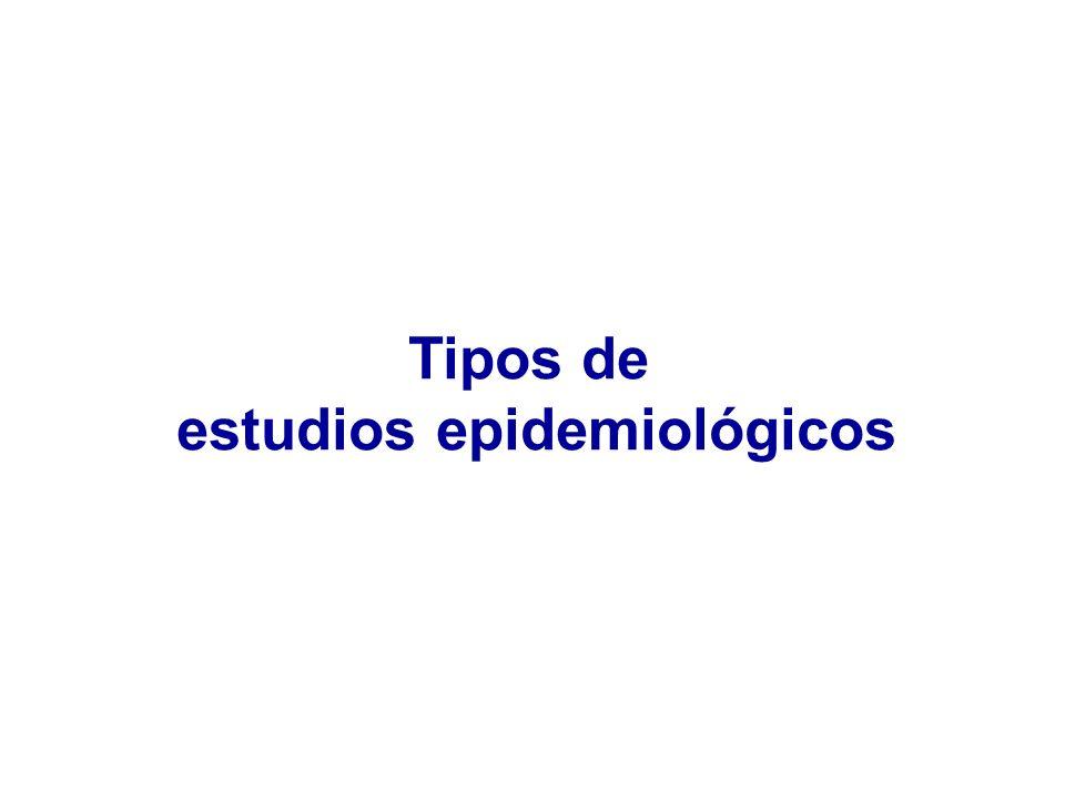 estudios epidemiológicos