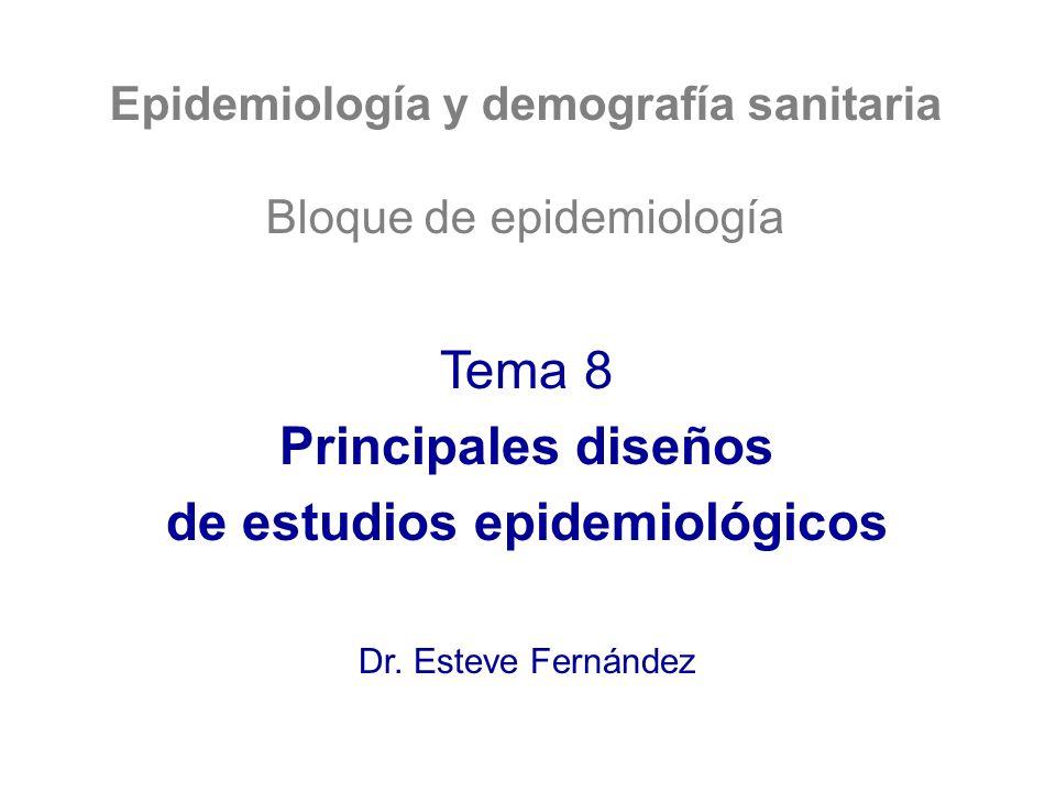 Epidemiología y demografía sanitaria de estudios epidemiológicos