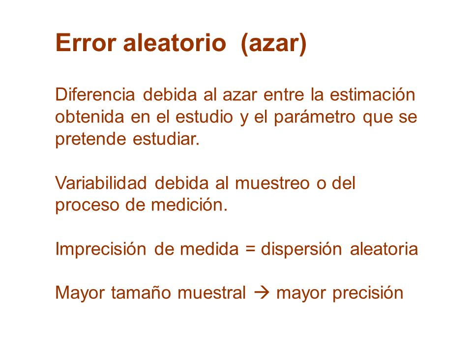 Error aleatorio (azar)