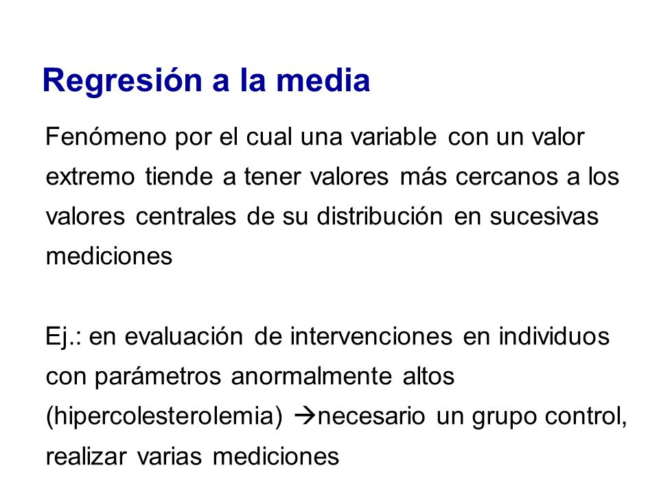 Regresión a la media