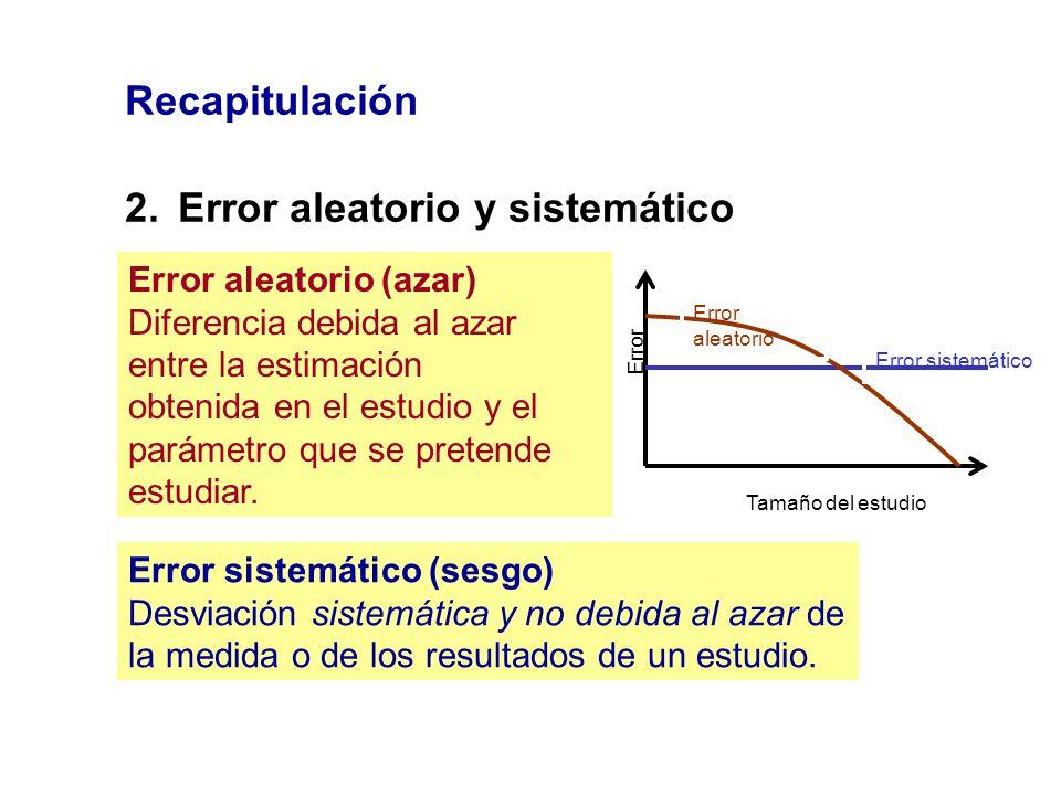 2. Error aleatorio y sistemático