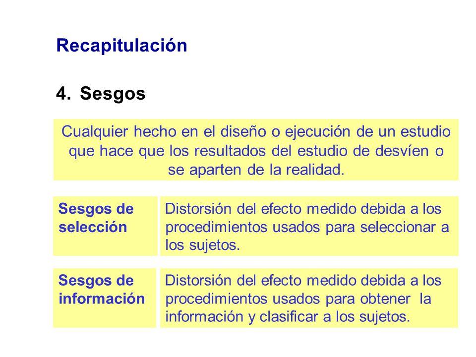 Recapitulación 4. Sesgos