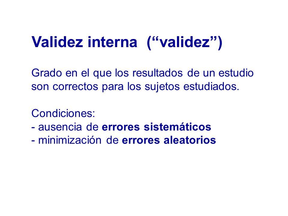 Validez interna ( validez )