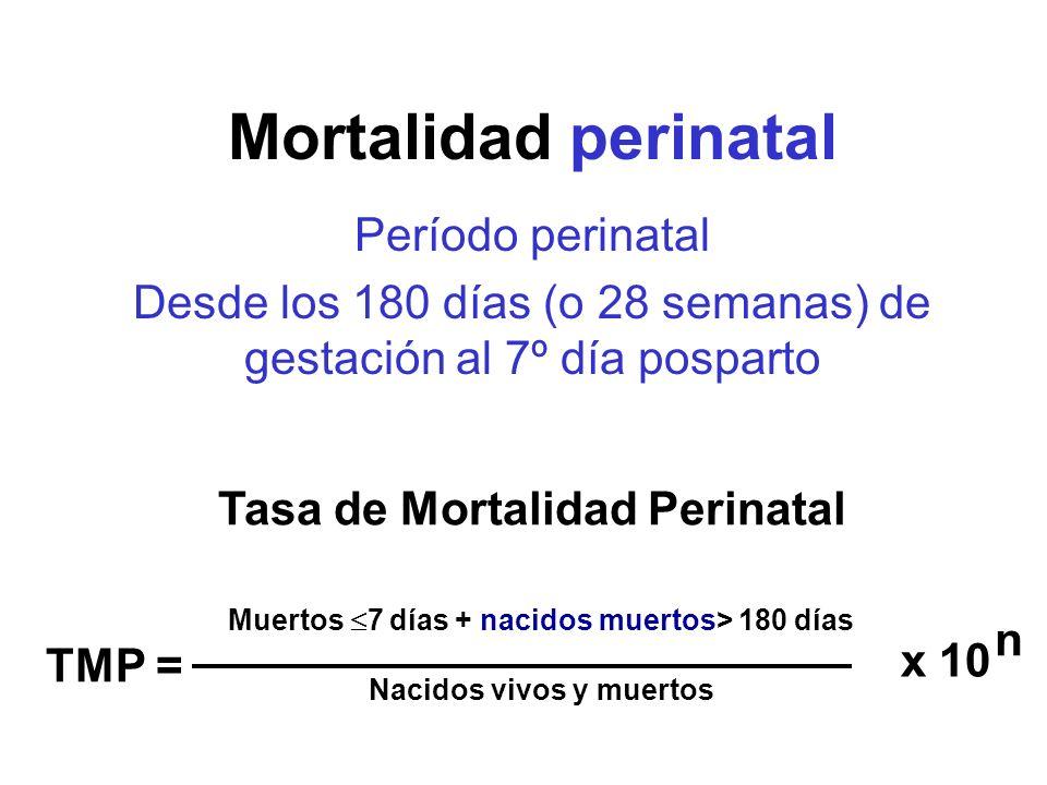 Mortalidad perinatal Período perinatal