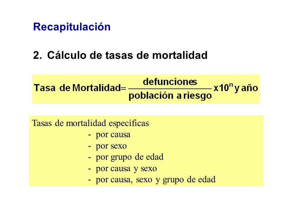 2. Cálculo de tasas de mortalidad