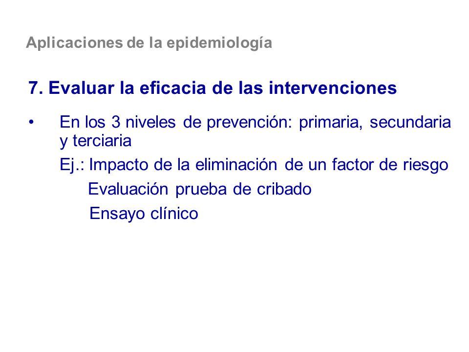 7. Evaluar la eficacia de las intervenciones