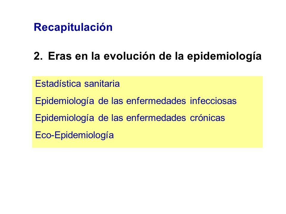 2. Eras en la evolución de la epidemiología