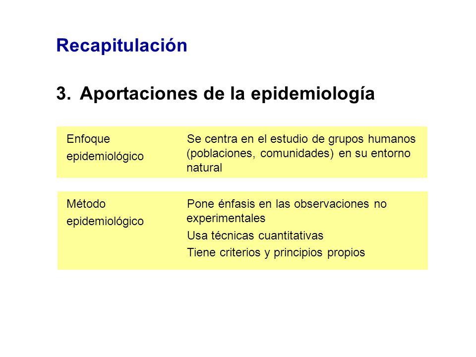 3. Aportaciones de la epidemiología