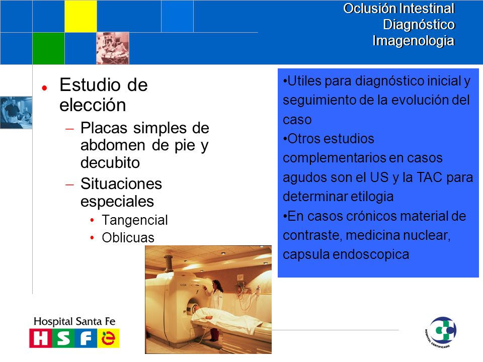 Oclusión Intestinal Diagnóstico Imagenologia
