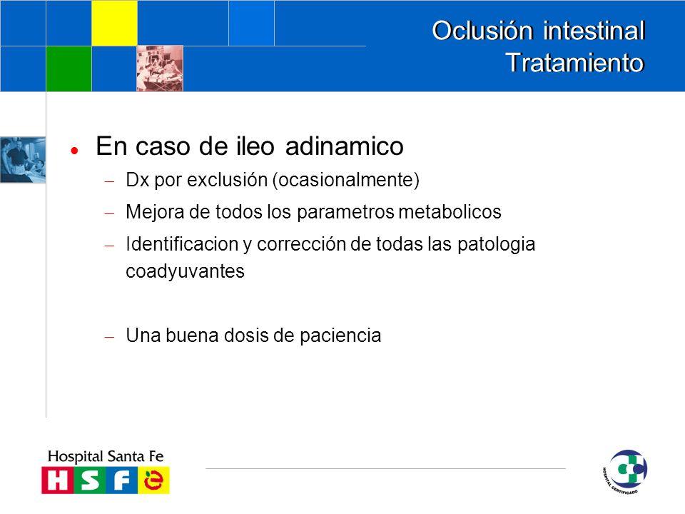 Oclusión intestinal Tratamiento