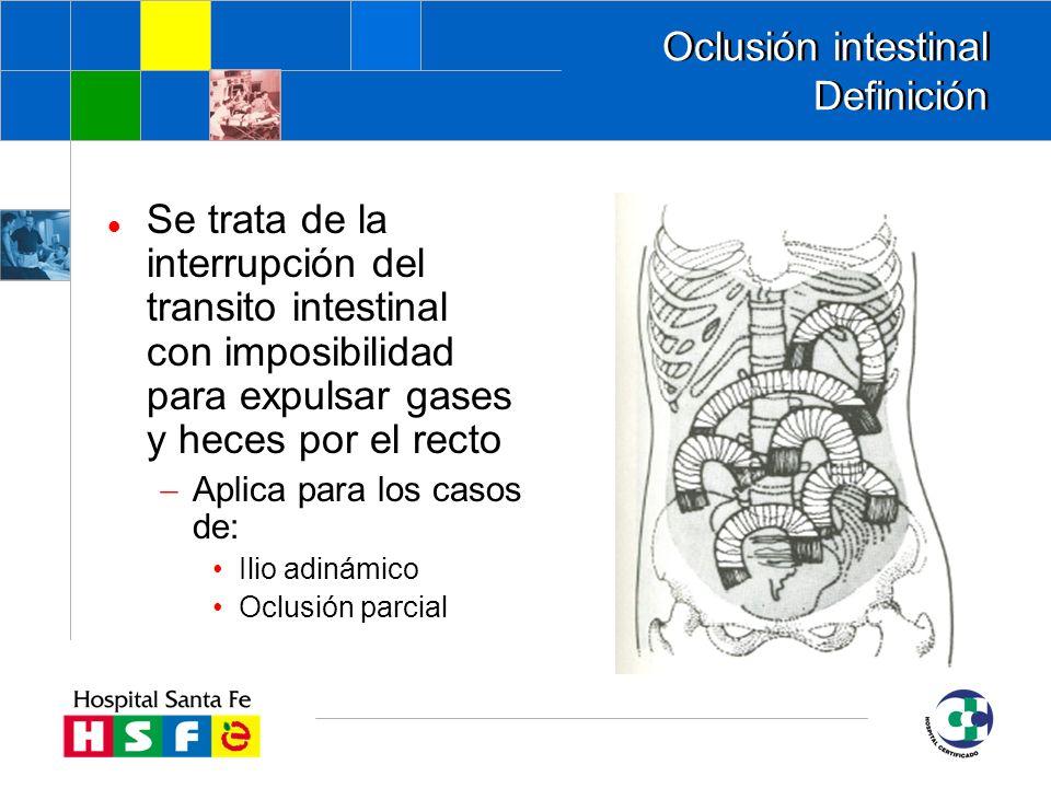 Oclusión intestinal Definición