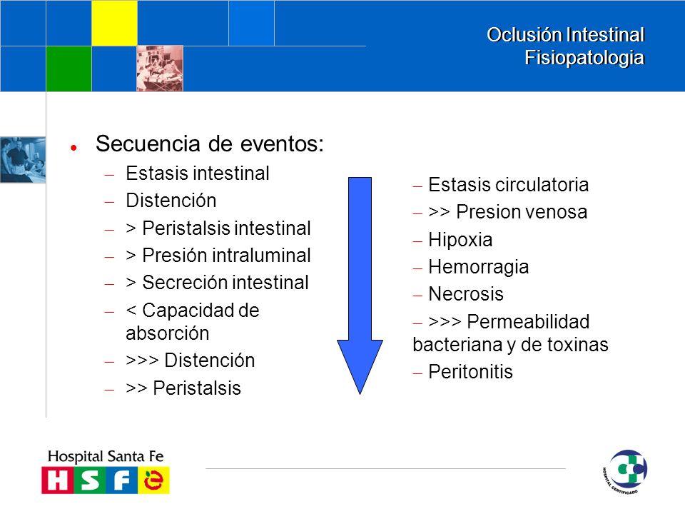 Oclusión Intestinal Fisiopatologia