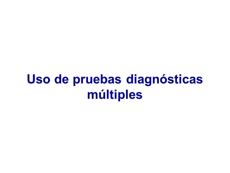 Uso de pruebas diagnósticas múltiples
