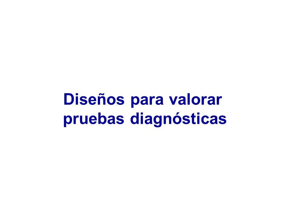 Diseños para valorar pruebas diagnósticas