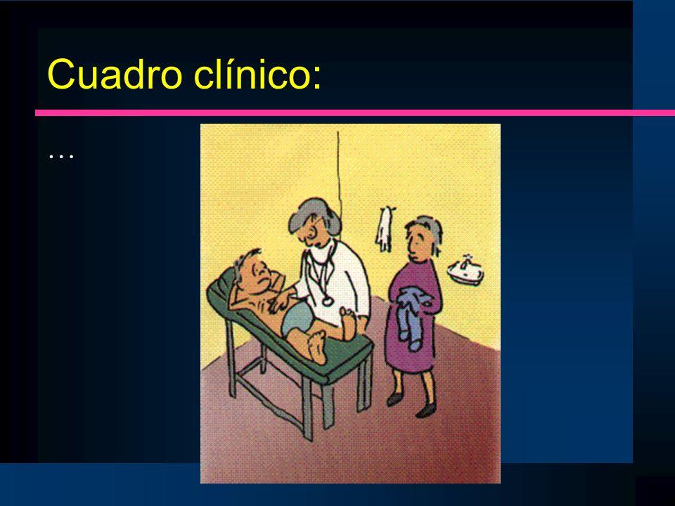 Cuadro clínico: …