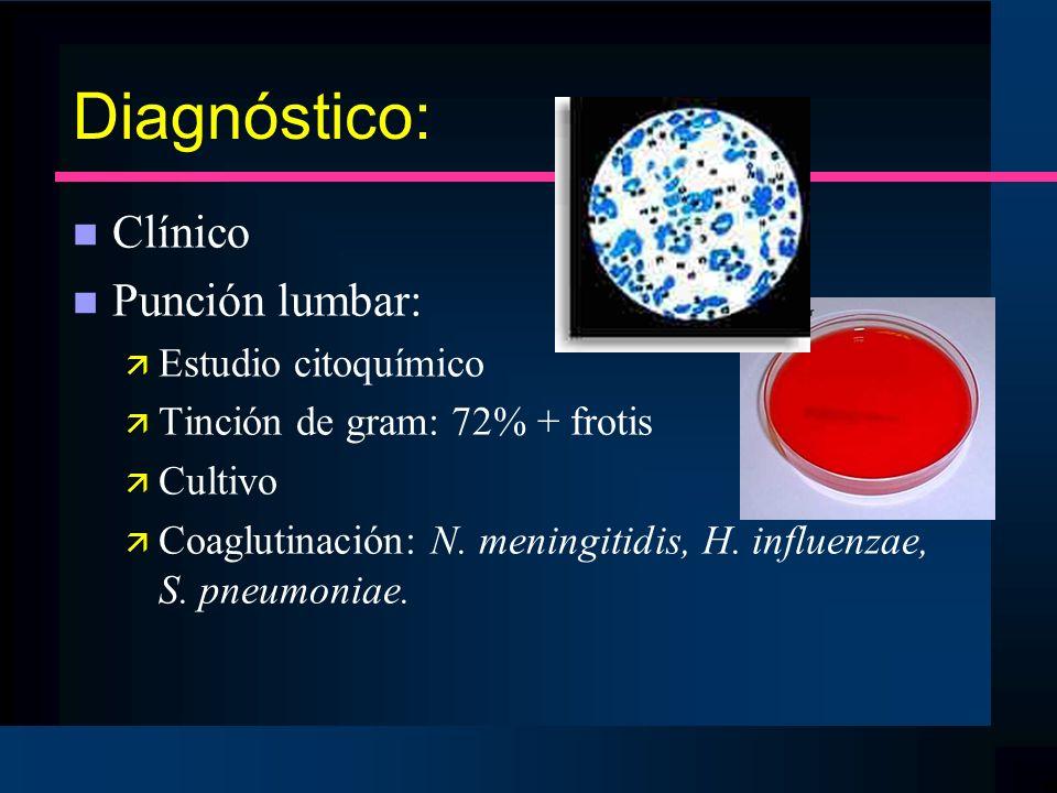 Diagnóstico: Clínico Punción lumbar: Estudio citoquímico