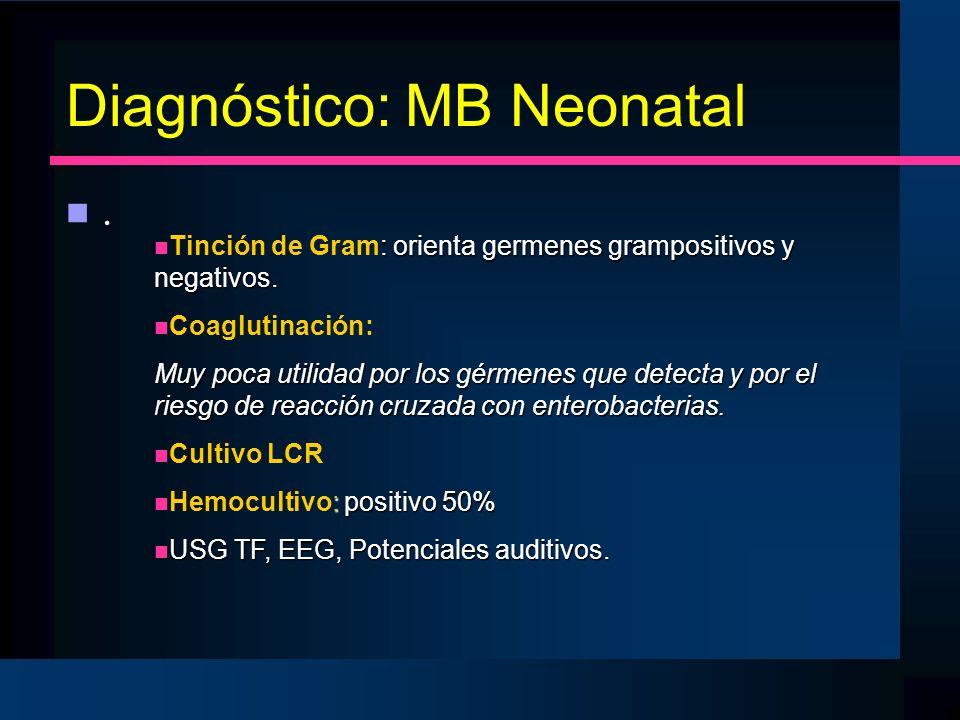 Diagnóstico: MB Neonatal