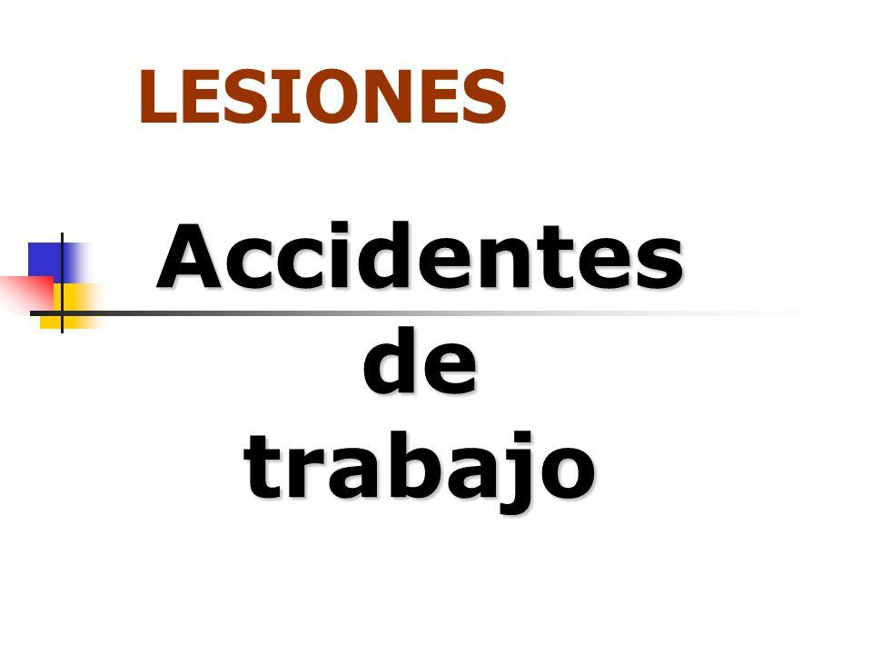LESIONES Accidentes de trabajo