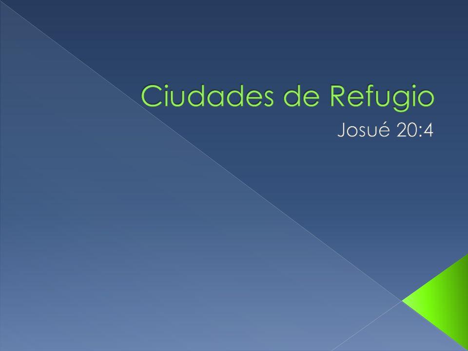Ciudades de Refugio Josué 20:4