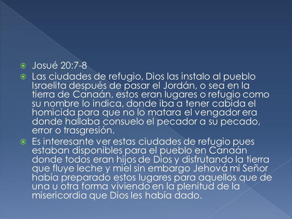 Josué 20:7-8