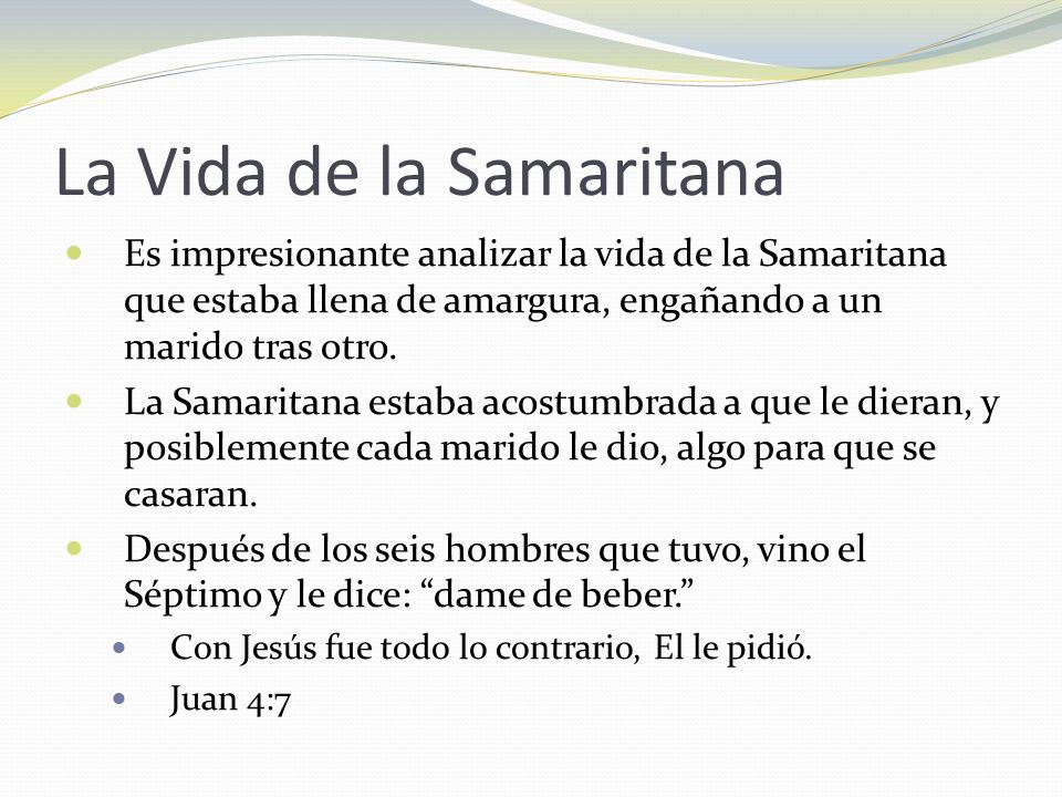 La Vida de la Samaritana